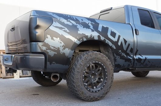 Toyota Tundra 4x4 Sport Vinyl Graphic Kits With A Large