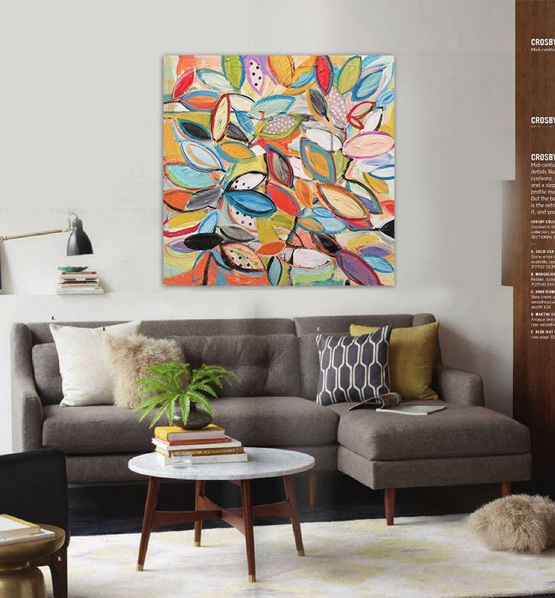 Barato folhas pintura a leo abstrata moderna pintados - Pinturas para metal ...