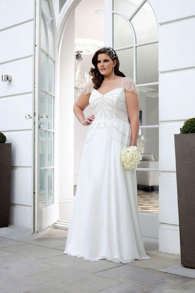 26b3e69a5 Atractivos vestidos de novia para gorditas