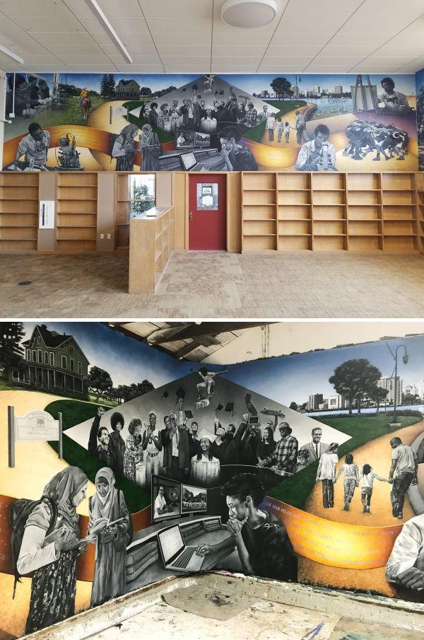 Murals - McClymonds High School Library Mural images