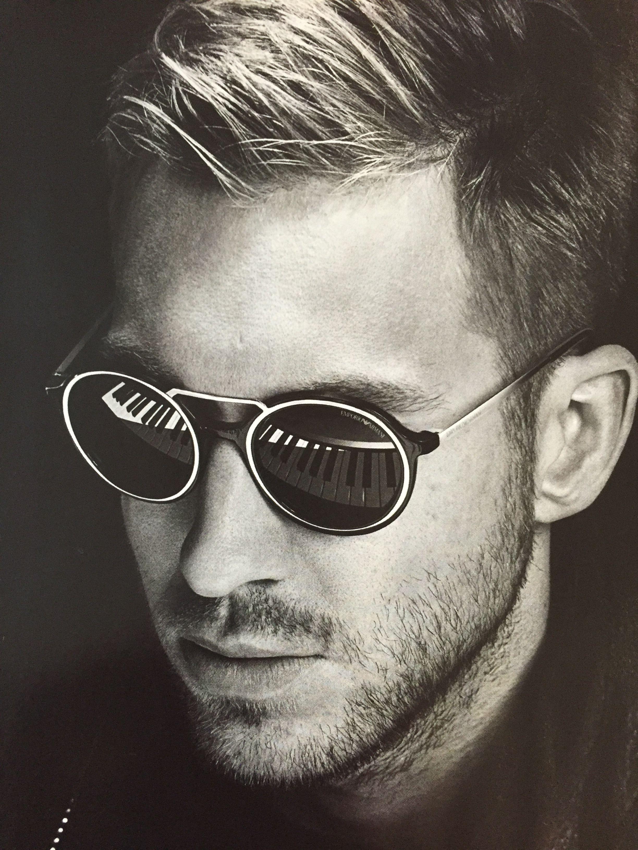 41b5edc71d63 Calvin Harris in Emporio Armani eyewear