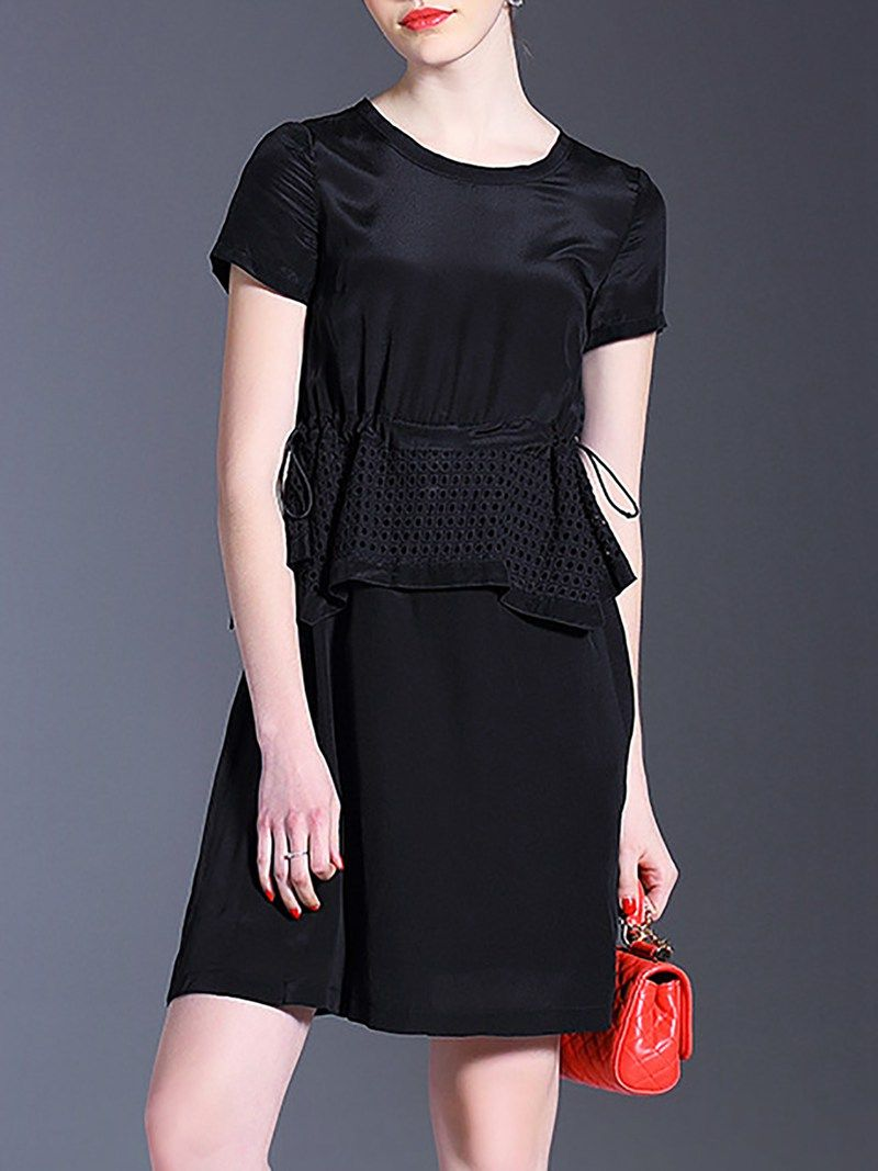 Shop short sleeve polyester aline casual midi dress online the