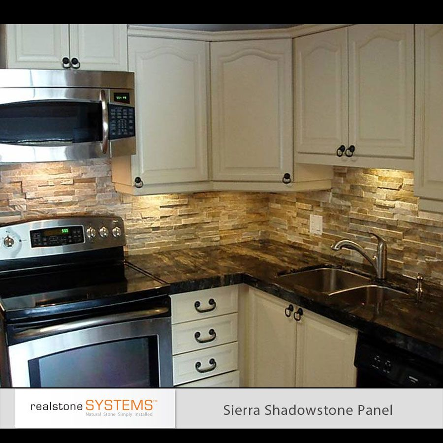 Kitchen Backsplash Rock: Stone Backsplash Different Hardware