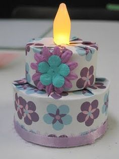 Tea Light Cake To Use In An Explosion Box