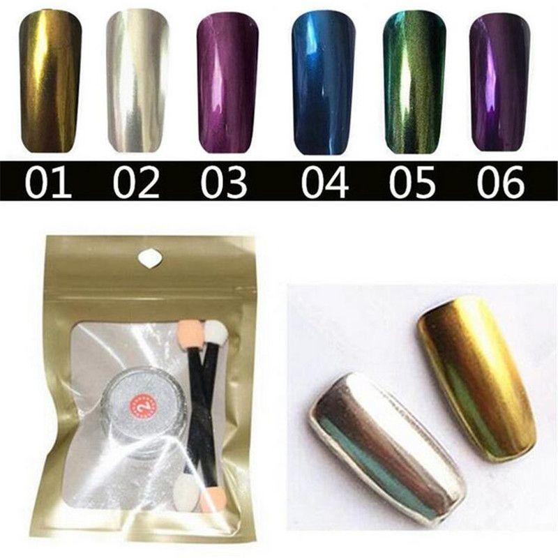 2016 new 1g/jar nail mirror powder chrome pigment powder nail ...