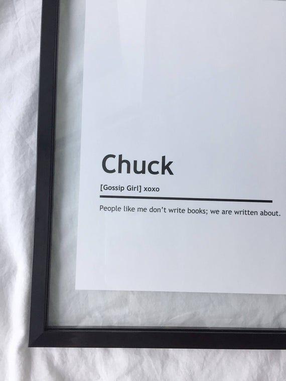 Chuck Bass Character Print