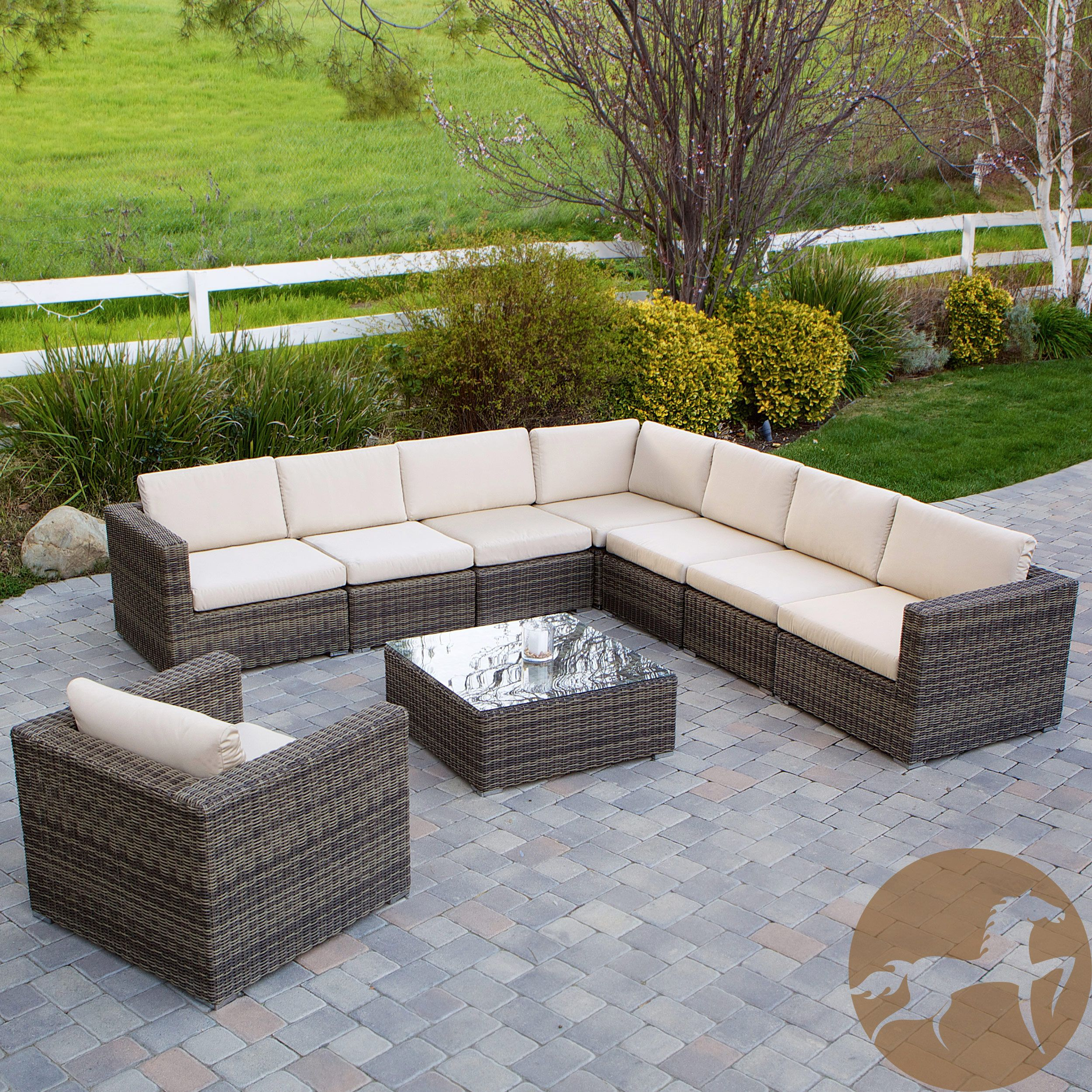 Christopher Knight Home Santa Rosa 9 piece Outdoor Sofa Sectional