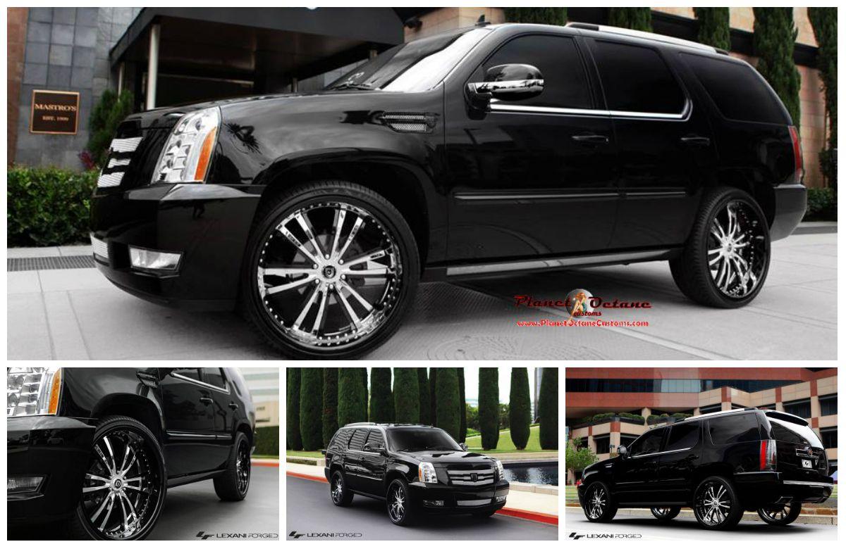 for trim w premium chrome escalade of rims fits cadillac wheels gmc black style set