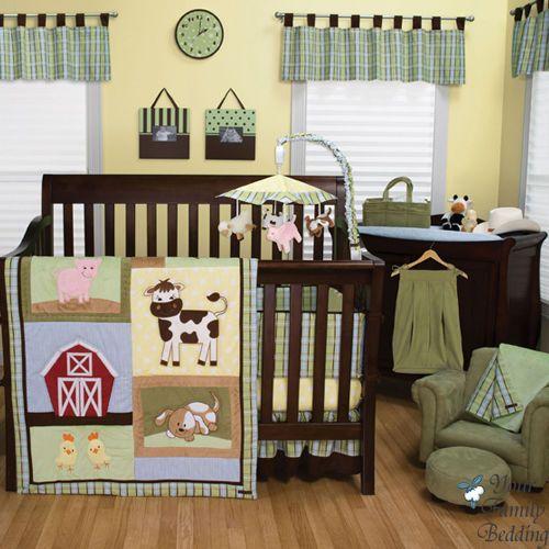 Baby Boy Girl Neutral Country Animal Farm Barn Crib Nursery Bedding Quilt Set Nursery Bedding Sets Baby Crib Bedding Animal Crib Bedding