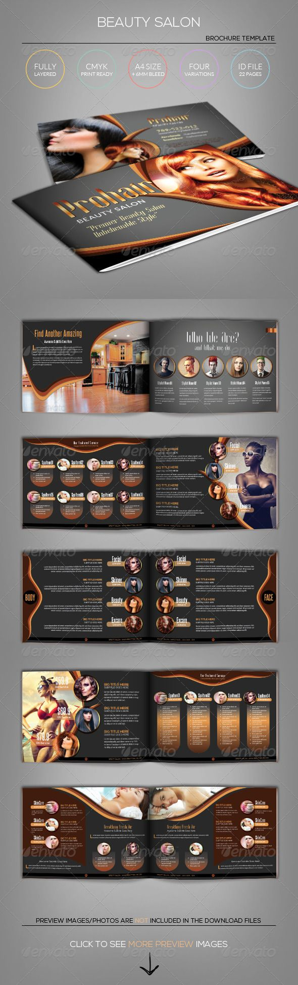 Modern Beauty Salon  Brochure Template  Brochure Template