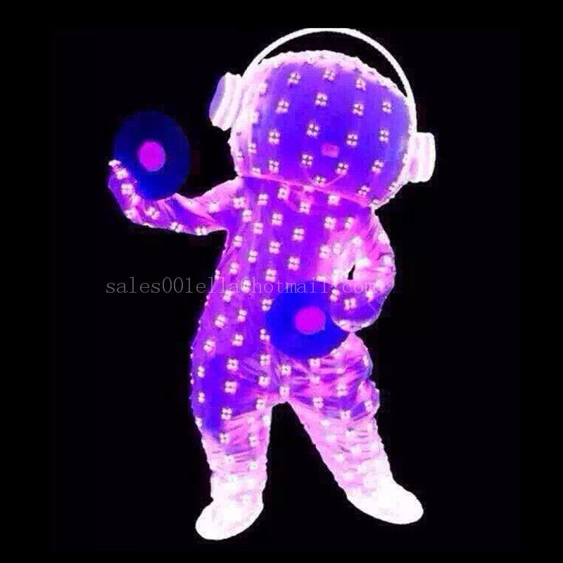 Full Colors Led Flashing Luminous Light Up Costume Clothing Light ...