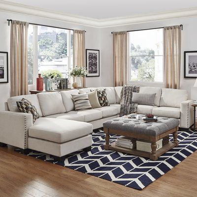 Mercury Row Scates 157 Sectional Wayfair Living Room Makeover Living Room Remodel Small Family Room