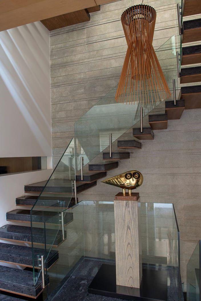 Best Stairway With Black Granite Floor And Glass Enclosures 400 x 300