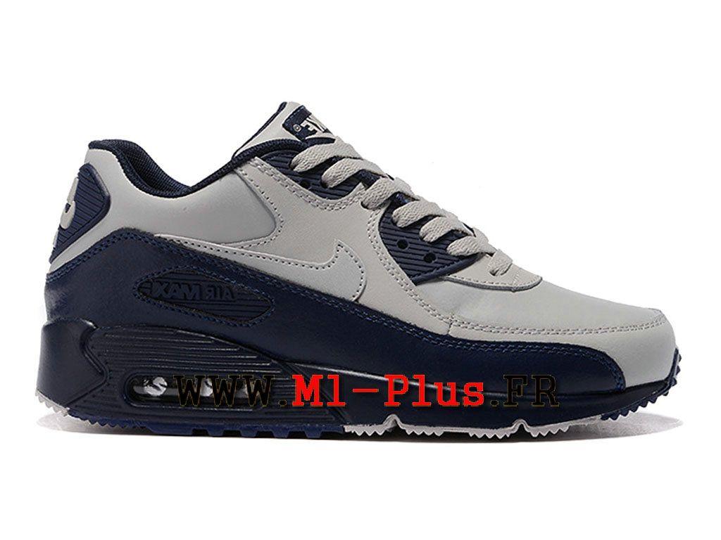 cheap for discount 36523 ed9a3 Nike Air Max 90 Officiel pas cher pas cher Jacquard ID Chaussures Pour Homme  Noir et