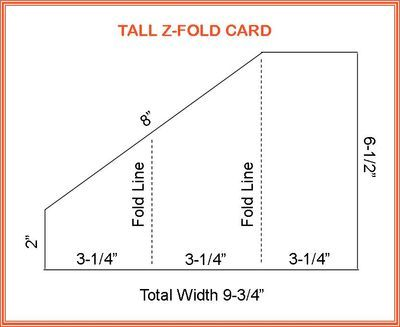 Tall Z Fold Card CRAFTS PRINTABLES TEMPLATES Folded Cards
