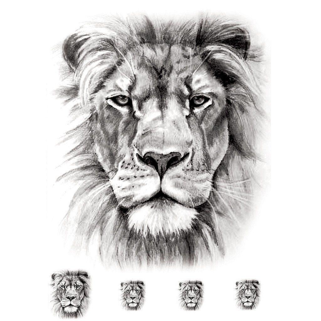 Temporary tattoo Realistic Lion (5 pieces) ArtWear