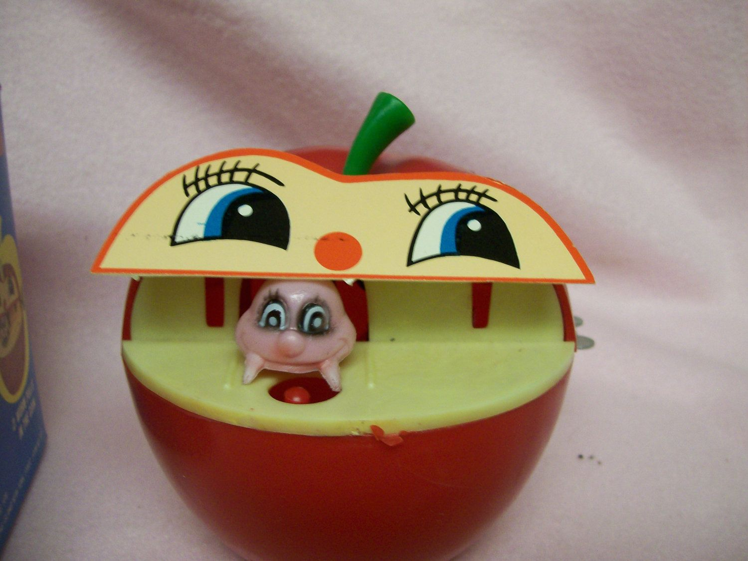 Coin Piggy Bank Toy Vintage Apple Worm Bank A Wind Up Toy Bank With Original