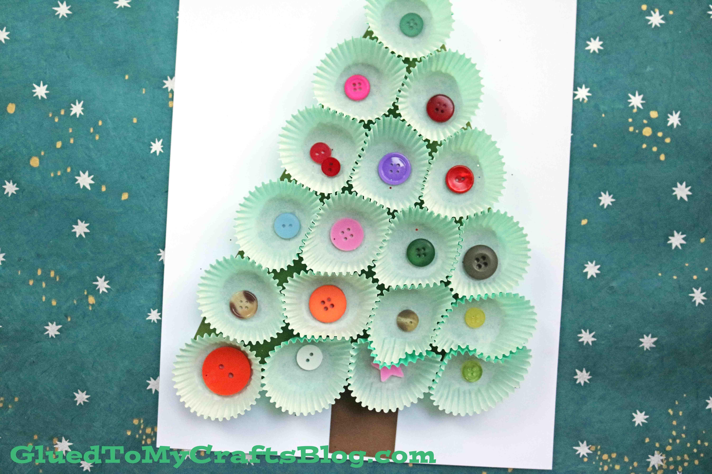 Cupcake Liner Christmas Tree 3 D Winter Kid Craft Christmas School Crafts Preschool Christmas Christmas Art For Kids
