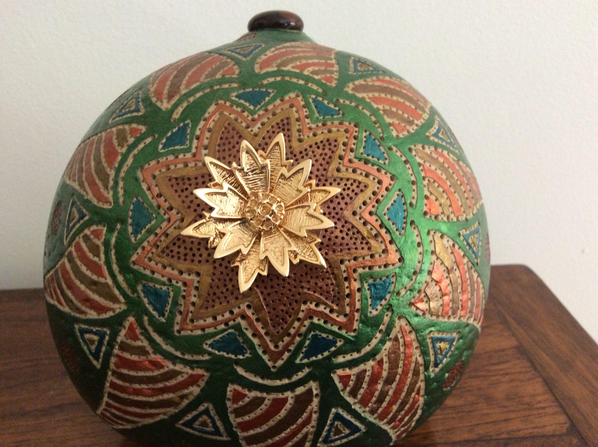 Lampe Calebasse Etoile De Noel Gourd Crafts Pinterest Gourds