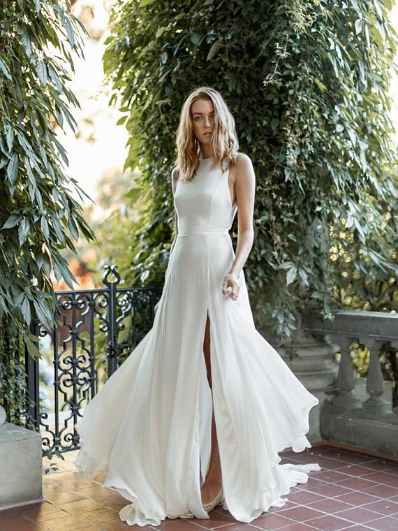 Criss-Cross Back Wedding Gown | Gowns, Handmade wedding dresses and ...