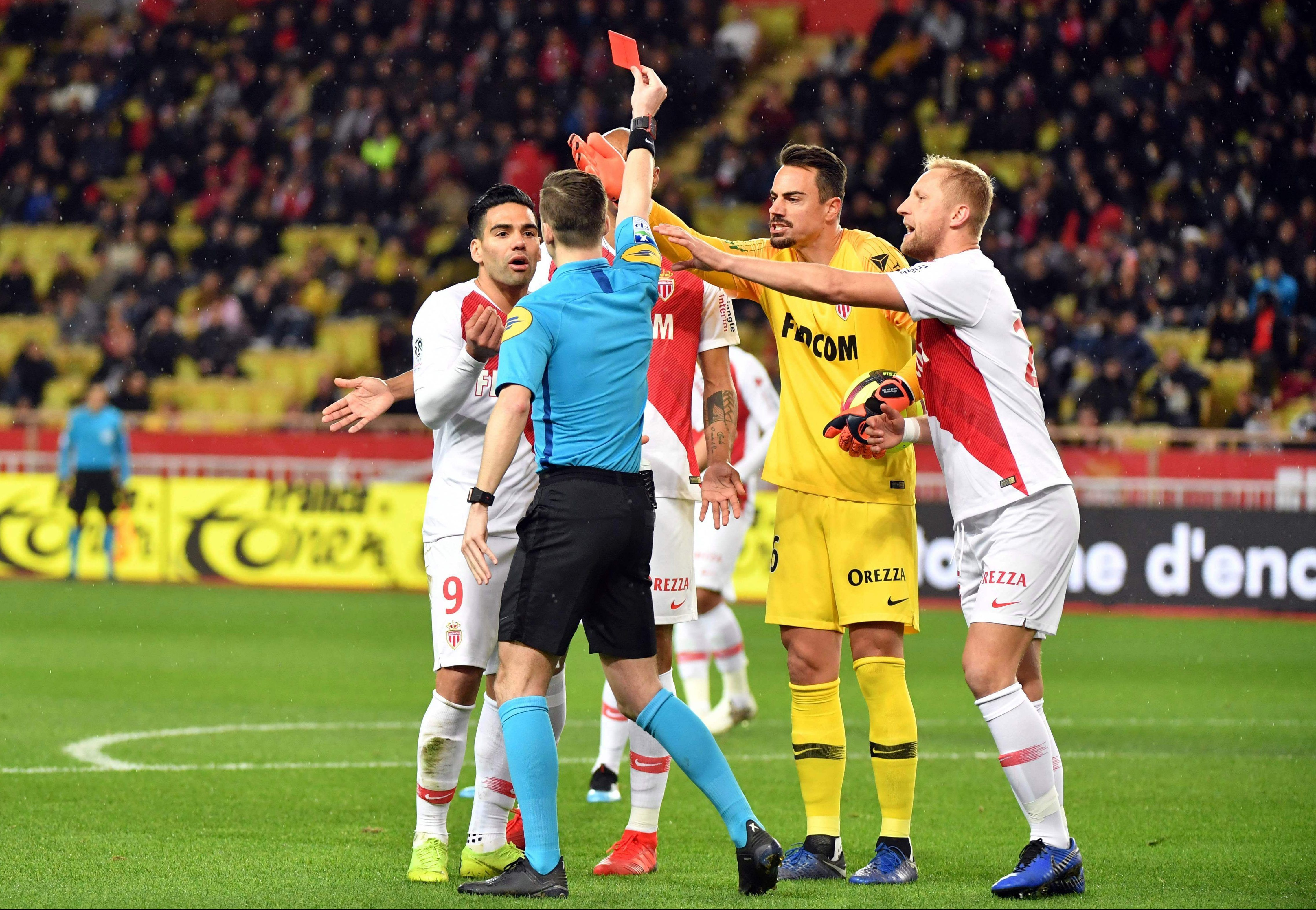 Monaco terminate Naldos contract after two red cards in just seven games and with defender not playing this season