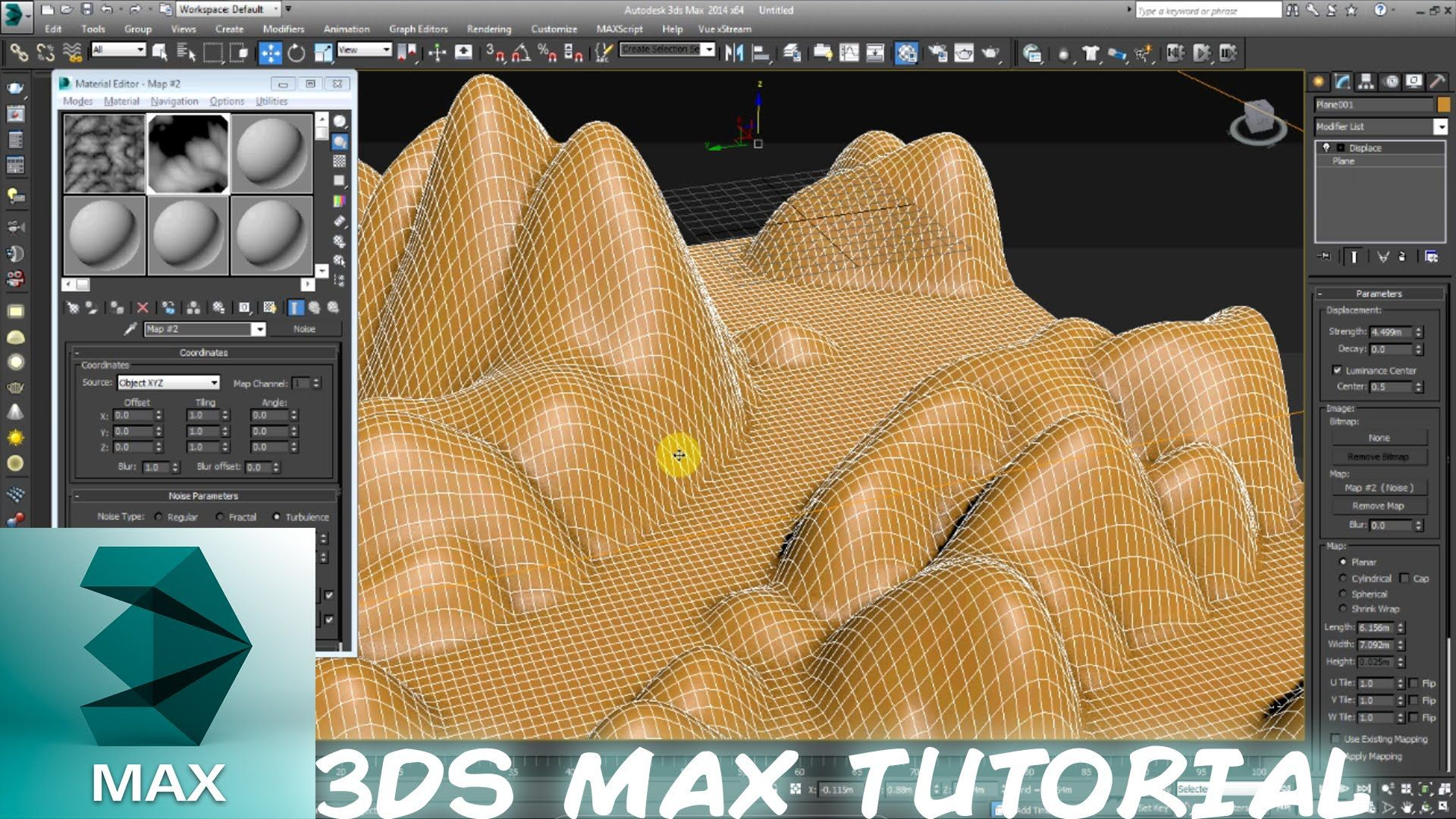 3DS Max: How to create realistic terrain for beginners | 3D Terrain