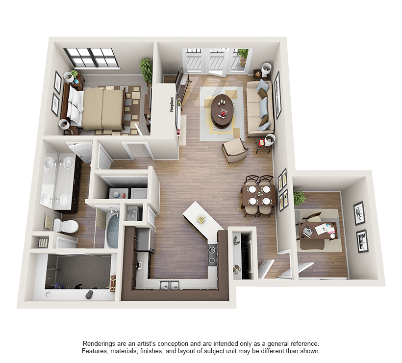 One And Two Bedroom Apartments In Oklahoma City Ok Steadfast Apartment Rental Oklahomaci Apartment Floor Plans Apartment Layout Small House Design Plans