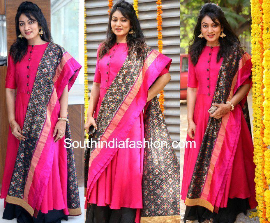 2451719eb6 asmitha-karnani-pink-kurta-ikat-dupatta Beautiful Mehndi Design, Saree