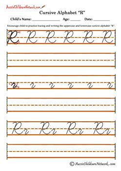 Cursive Tracing Alphabets Worksheets Rr Ecriture Cursive