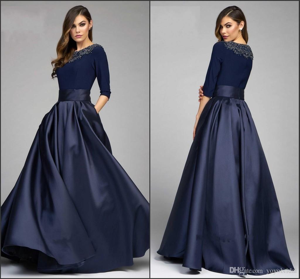 Vintage Navy Designer Mother Of The Bride Groom Dresses 20 A