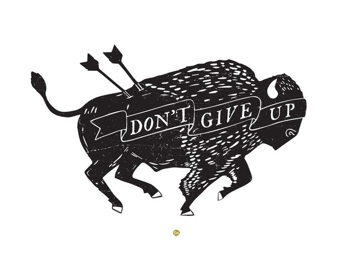 """Don't Give Up"" Art Print by Scott Erickson on Society6 | Society6 thumbnail"