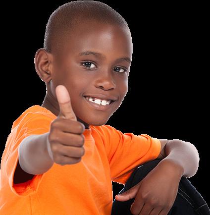 Black Kid Thumbs Up Png Image