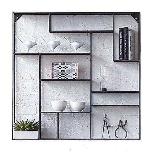 ANDEa Iron Square Regal, Creative Wall Mount Wohnzimmer auf der - trennwand im wohnzimmer