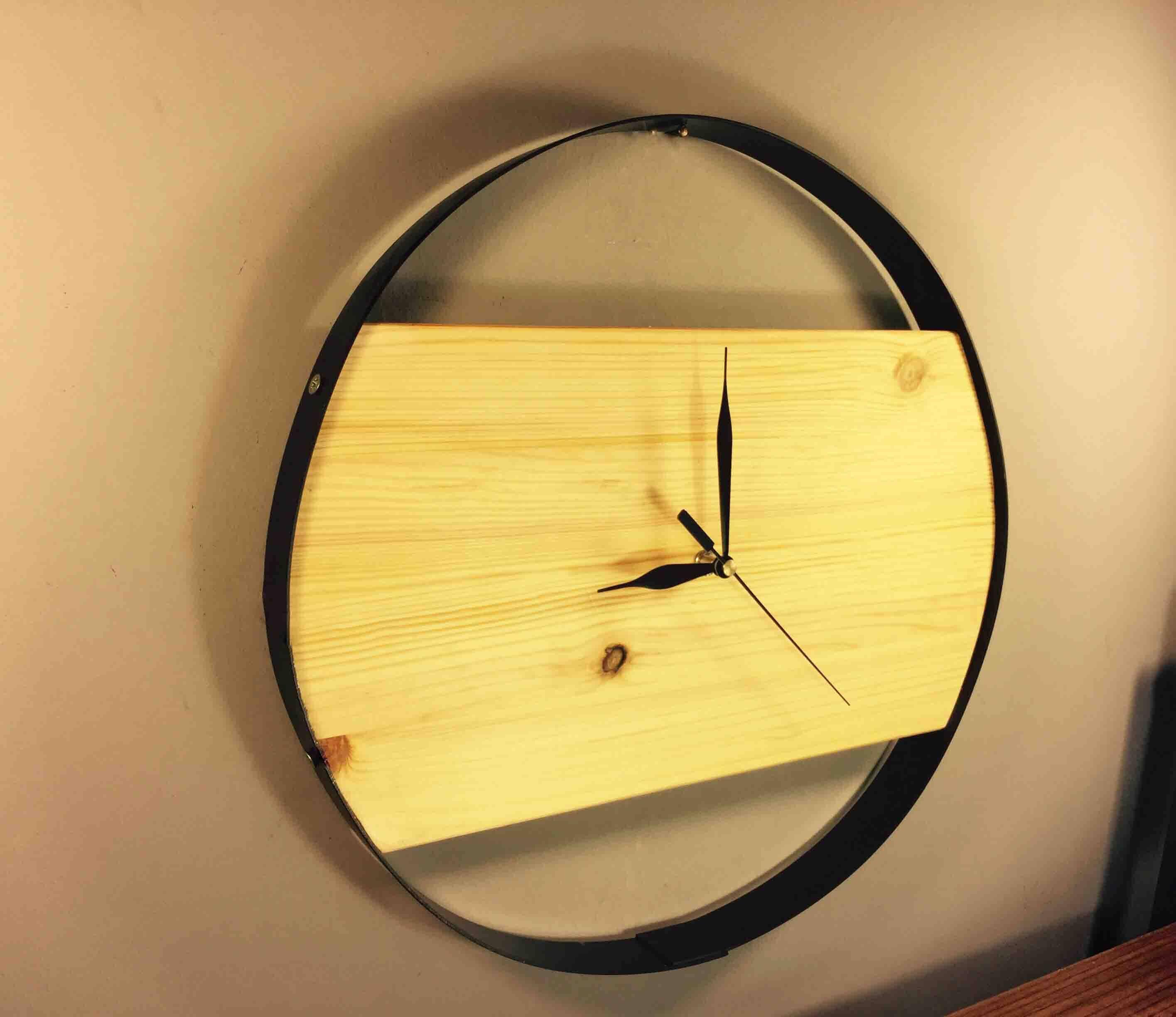 Large Wall Clock, Modern Wood Wall Clock, Wooden Wall Clock, Unusual ...