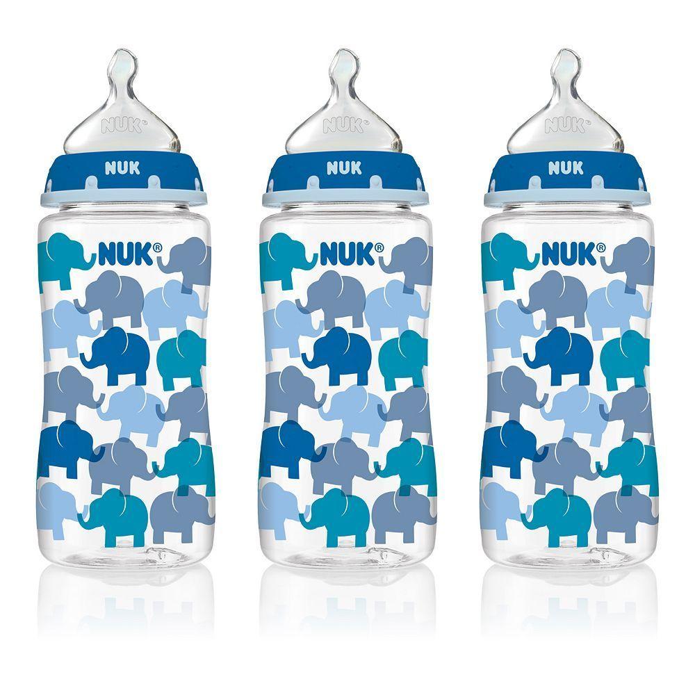 Nuk 3pk 10oz medium flow orthodontic bottles baby