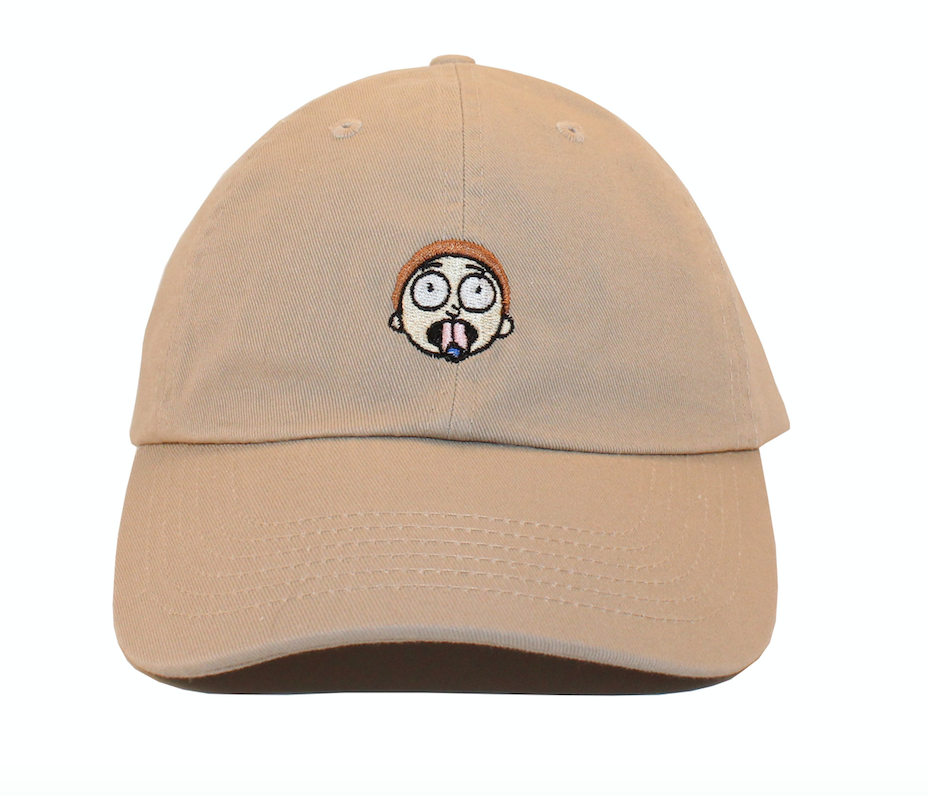 Rick and Morty Inspired Embroidered Baseball Cap, Dad Hat Design, Chillthrillscaps.com Rick and morty dad hat
