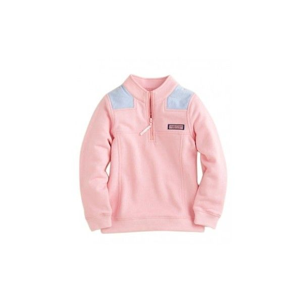 Vineyard Vines Girls' Shep Shirt ($62) ❤ liked on Polyvore featuring tops, jackets, outerwear, sweaters and shirts