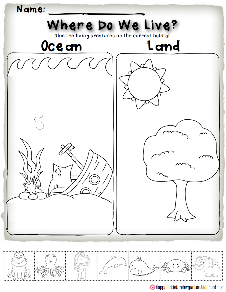 Ocean Habitat Freebie Perfect For Science Centers And