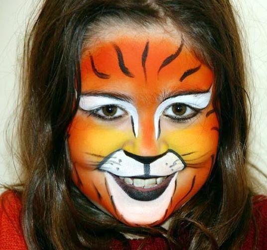 Maquillaje Tigre Manualidades para niños pintura cara niños - maquillaje de halloween para nios
