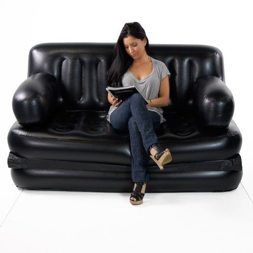Smart Air Beds Queen Sized 5 X 1 Inflatable Sofa Bed Black