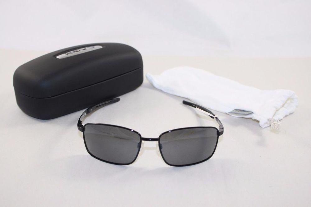 ab34e22ecd7 REVO Windspeed Sunglasses POLARIZED Matte Black Graphite NEW RE3087-01  Aviator  Revo  AviatorWindspeed