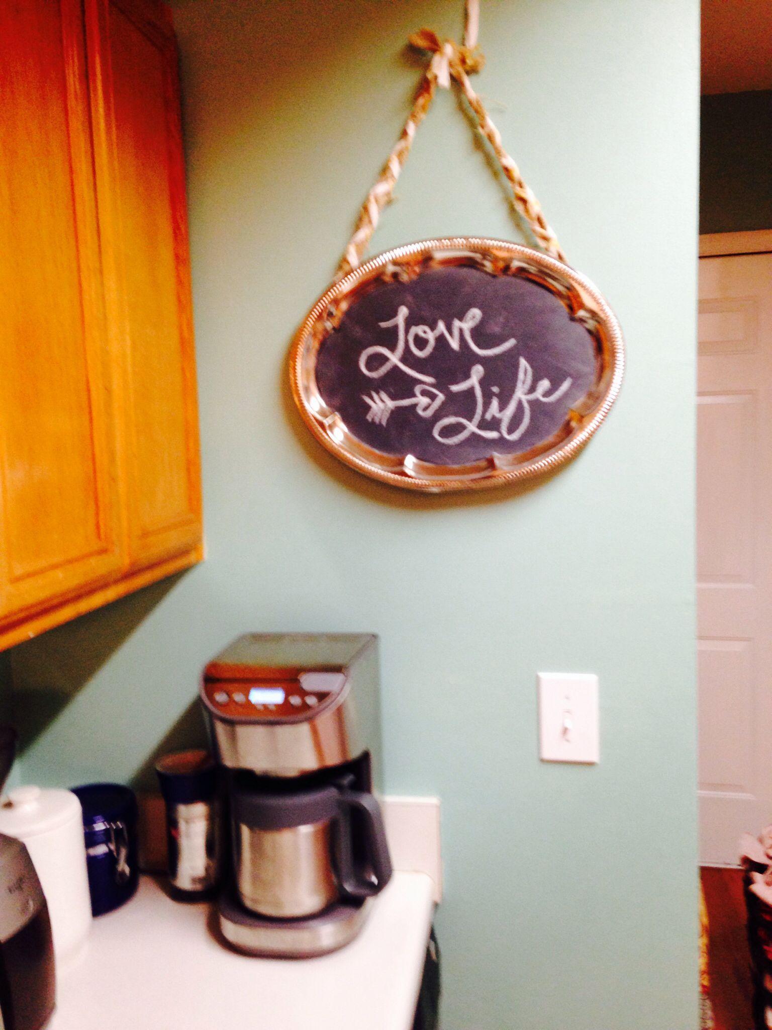 Platter chalkboard. Love life