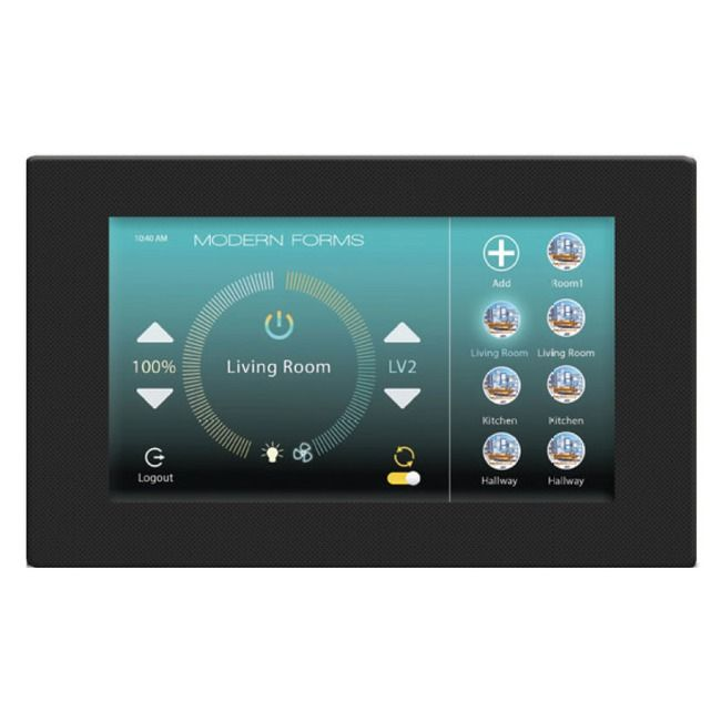 wifi touch panel wall control by modern forms f ts bk on wall control id=23681