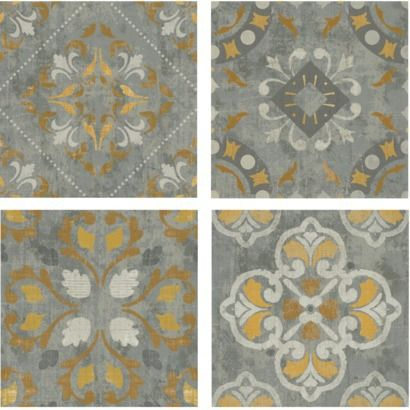 Patchwork Yellow Tile Assorted 15x15 Gray Wall Art Target Yellow Tile Grey Wall Art Tiles