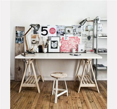 4 bureaux à faire soi-même très facilement | bureaus, lofts and