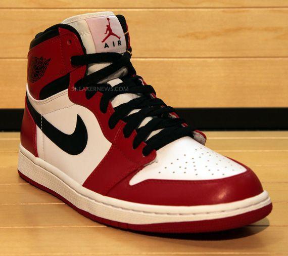Air Jordan 1 Retro High White Red Black Sneakernews Com