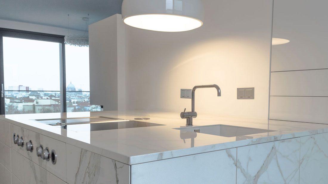 Wohnküche mit VidroStone Keramik | A-interior kitchen | Pinterest ...