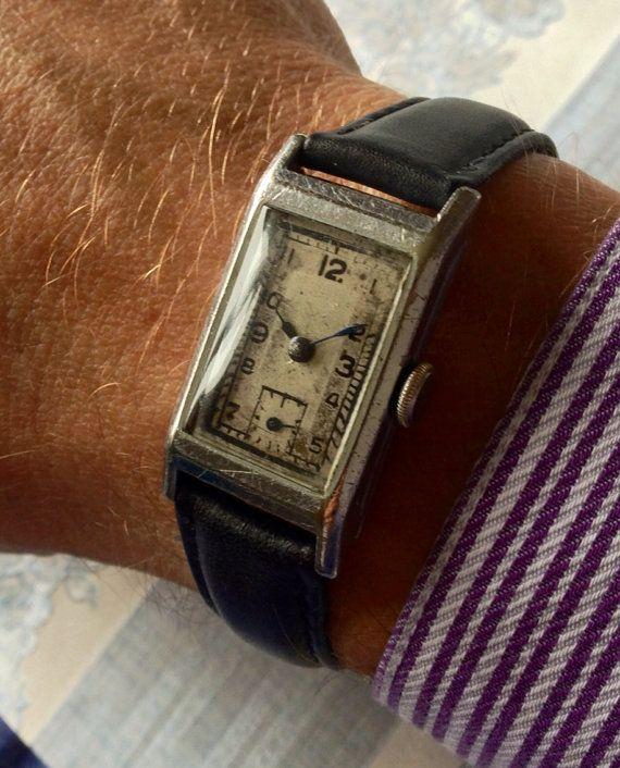 Fantastic 1930s Swan (Record) vintage Swiss manual wind mens watch on Etsy, £145.00
