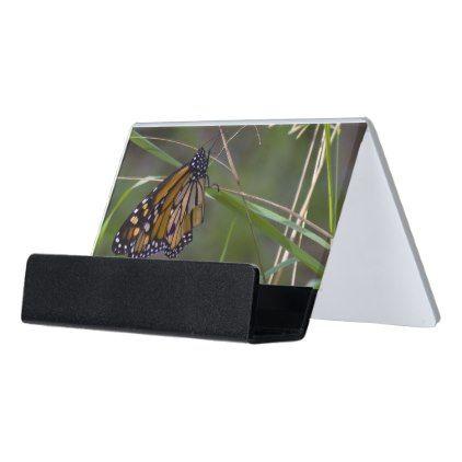 Monarch Butterfly Desk Business Card Holder Nature Diy Customize Sprecial Design Business Card Holders Card Holder Diy Card Holder