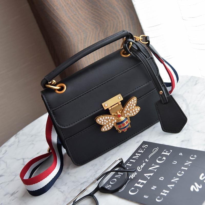 7c46bce5cda 2018 Luxury Crossbody bag Women Colorful splicing Little Bee Bags GG ...